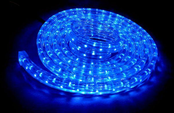 Силиконовая LED лента голубого цвета для авто 3м, DC 12-24V, Blue, ВL-564.2.03