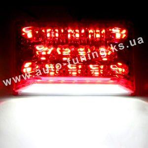 Светодиодный фонарь подсветки номера красного цвета, White & Red, WR-2810