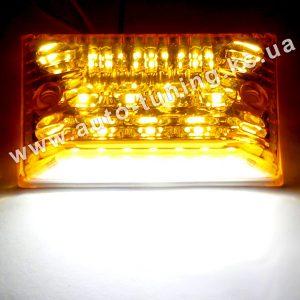 Светодиодный фонарь подсветки номера оранжевого цвета, White & Orange, WO-2905