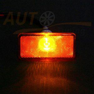 Боковой габаритный фонарь для грузовика, DC 24V, Orange, LO-1801