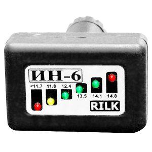 RILK - Вольтметр DC 12V со светодиодными LED-индикаторами, ИН-6