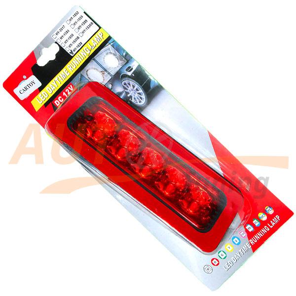 Дополнительный СТОП-сигнал на заднее стекло, Red Tuning Glass, 5 Led, 12V, HY-1639