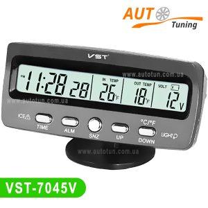 VST – Часы, термометр, вольтметр, дисплей с LED-подсветкой, VST-7045V