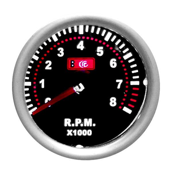 Дополнительный прибор, спортивный тахометр Ø 55 мм, Smoke, LED 7705-1