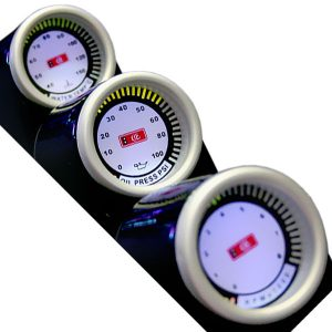 Тахометр + температура масла + t°C воды, 3 × Ø 55 мм, 3-LED 8895