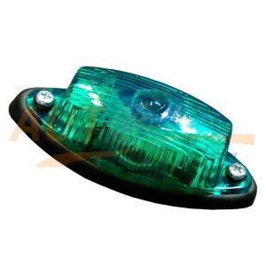 Габаритный фонарь типа «Лодочка» LED DC 12-24V, Зеленый, 1 шт, GT-405