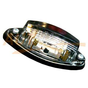 Габаритные огни типа «Лодочка» LED DC 12-24V, Черный, Белый, 1 шт, WBT-500