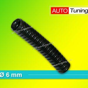 Гофра пластиковая изоляционная для проводки, Ø 6 mm, Black