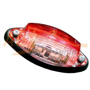Габаритный фонарь типа «Лодочка» LED DC 12-24V, Красно-белый, 1 шт, RWT-505