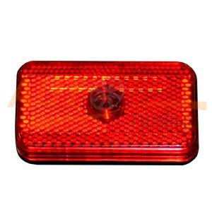 Габаритный фонарь типа «Leopold», Красный, 80×45 (мм), 1 шт, RR-706
