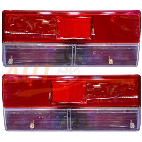 Комплект стекол для СТОП-сигналов на ВАЗ-2107, Tuning, 2 шт, CN-1220/G