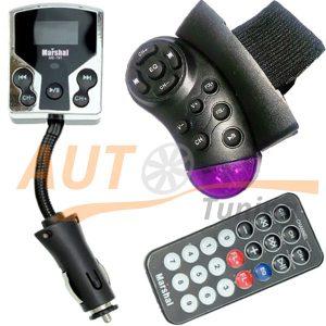 MARSHAL – FM-модулятор с пультом управления на руль (трансмиттер, MP3-FM TRANSMITTER), ME-191
