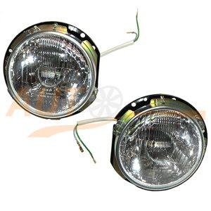 Комплект оптики в сборе, горшки на ВАЗ 2106, ближний и дальний свет, H4, 2 шт