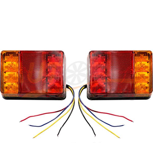 Светодиодные СТОП-сигналы на прицеп, 120×95×22 (мм), 2 шт, PRC-9501