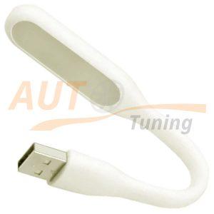 Светодиодная USB лампа, светильник на гибкой ножке, White, 58647