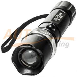 Мощный LED фонарик с аккумулятором и заряд. устройством, POLICE, BL-T8626-XPE