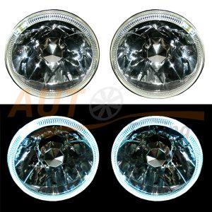 Блокфара, оптика с рассеивателем, рефлекторным отражателем и ангельскими глазками на ВАЗ 2103-06, RM-300