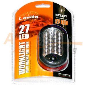 Автомобильная лампа-переноска с магнитом и крючком, Lavita 171127