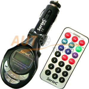 Sertec - FM-модулятор с пультом управления, трансмиттер, MP3-FM, Fm-110