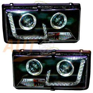 Комплект, блокфары на ВАЗ 2104-2105-2107 со светодиодными ДХО, Tuning (PL), EM-630F