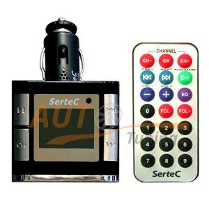 Sertec - FM-модулятор с пультом управления, трансмиттер, MP3-FM, Fm-126