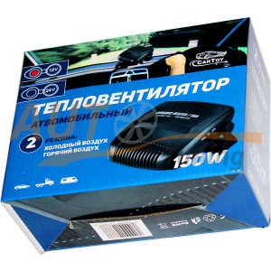 Тепловентилятор с регулируемой ножкой, 2 режима, Сeramic, DC 12V, 150W