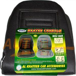 Al Khateeb – Автомобильная накидка с подогревом на сиденье, встроенный датчик веса и защита от перегрева, Black, HCU-1068