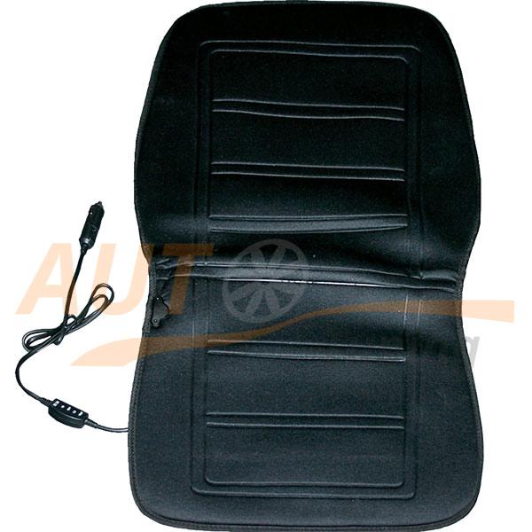 Elegant - Накидка с электроподогревом на переднее сиденье, Black, 100575