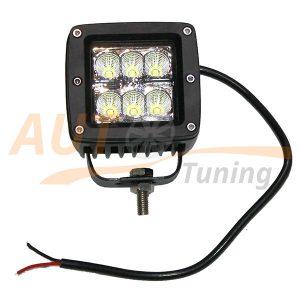 Светодиодная лампа-фара с радиатором охлаждения 6 LED, ближний свет, 2 шт, D-21