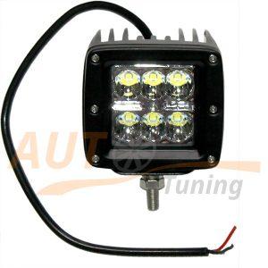 Светодиодная лампа-фара с радиатором охлаждения 6 LED, дальний свет, 2 шт, D-23