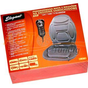 Накидка на сиденье с массажером и электроподогревом, 12V, 10W, Black, EL 100582