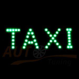 Табличка светодиодная TAXI одноцветная, зеленый, DC 12V, 44 SMD, 2835G
