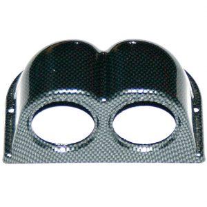 Sport Car – Подиум для приборов для 2-х отверстий Ø 52 мм, горизонтальный, CARBON, MGВ2/CK