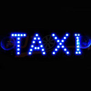 Табличка светодиодная TAXI одноцветная, голубой, DC 12V, 44 SMD, 2835B