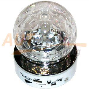 Mini Speaker, автономный вращающийся ДИСКОШАР с МР3, ТF, USB, AUX, SK#70