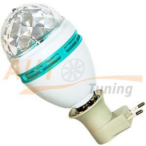 Crystal Magic Ball Bulb - Лампочка RGB, вращающийся ДИСКОШАР для дискотек, банкетных залов, вечеринок и т.п