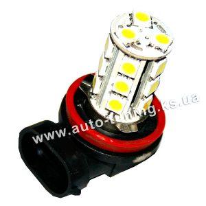 Светодиодная лампа белого света 18 LED, DC 12V, H8, H9, H11, ULM-13