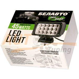 Светодиодная балка 15 LED, 158×95 (мм), DC 9-60V, 45W, 1 шт, EPISTAR, Беларусь, BOL 1503