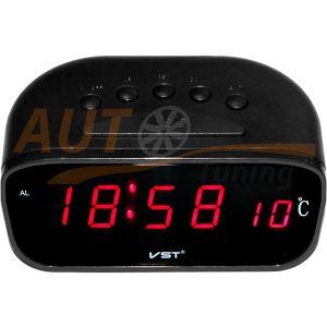 Часы с поддержкой памяти, будильник, термометр с выносн. датчиком t°, LED дисплей, VST-803