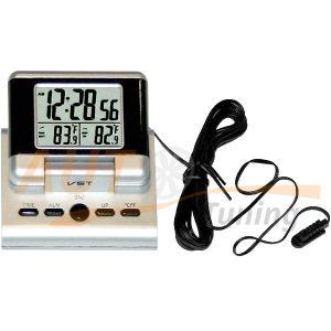 IRIDIUM – Часы автомобильные, термометр с выносным датчиком, будильник, календарь, жк-дисплей, подсветка, VST-7060