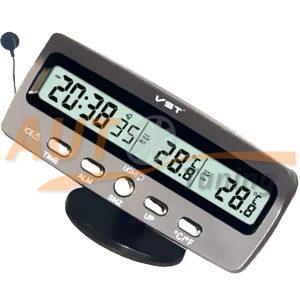 Часы с термометром, будильником и индикатором гололеда, VST-7045