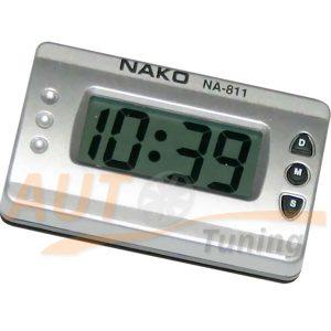 Часы автомобильные, будильник, день недели, таймер, секундомер, NA-811