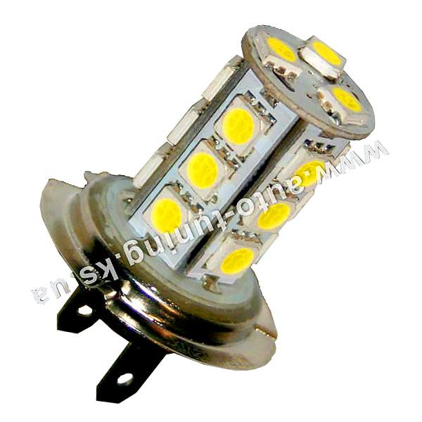 Светодиодная лампа белого света, 18 LED, DC 12V, H7, ULM-19