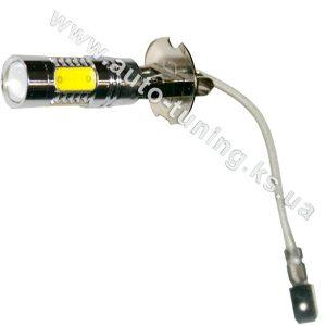 Светодиодная лампа белого света с линзой 8+1 LED, DC 12V, H3, UPL-25