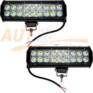 Светодиодная балка 18 LED, 230×70×70 (мм), дальний свет, 2 шт, К7023