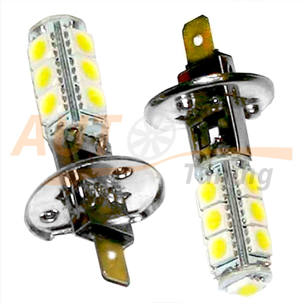 Комплект, светодиодные лампы белого света, 4+1 LED, DC 12V, H1, ULPD-4