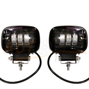 Светодиодные лампы-фары 3 LED, ближний свет, 2 шт, Square, RP-F760