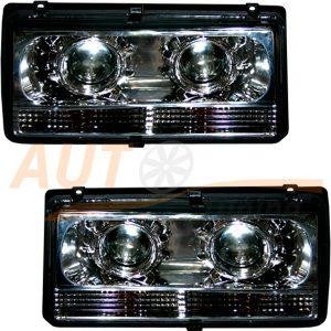 Комплект, блокфары на ВАЗ 2104-2105-2107 с ангельскими глазками, 2шт, Tuning Chrome EX