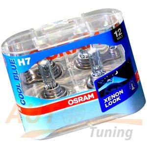 Галогенные лампы OSRAM Cool Blue XENON LOOK H7, DC 12V, 55W, 2 шт