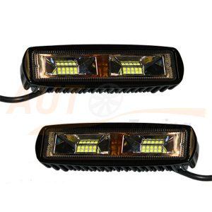 Светодиодные лампы-фары 10+10 LED, 158×43 (mm), дальний свет, 2 шт, К1920